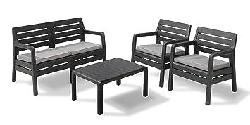 Allibert 224288 Lounge Juego Dana, 2 sillones, sofá de 2 ...