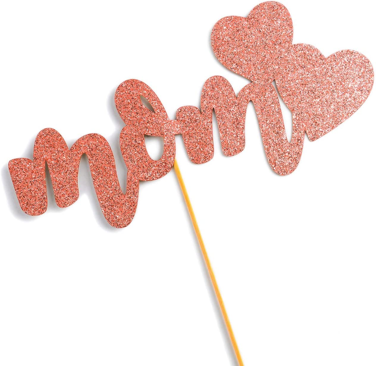 We Love Mom Cake Topper,Happy Mothers Day Party Decoration Supplier Cheers to Monther Birthday Decoration Gift