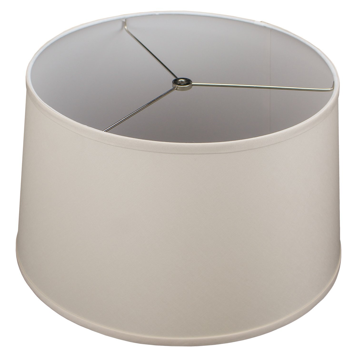 FenchelShades.com Lampshade 15'' Top Diameter x 17'' Bottom Diameter x 10'' Slant Height with Washer (Spider) Attachment for Lamps with a Harp (Ivory)