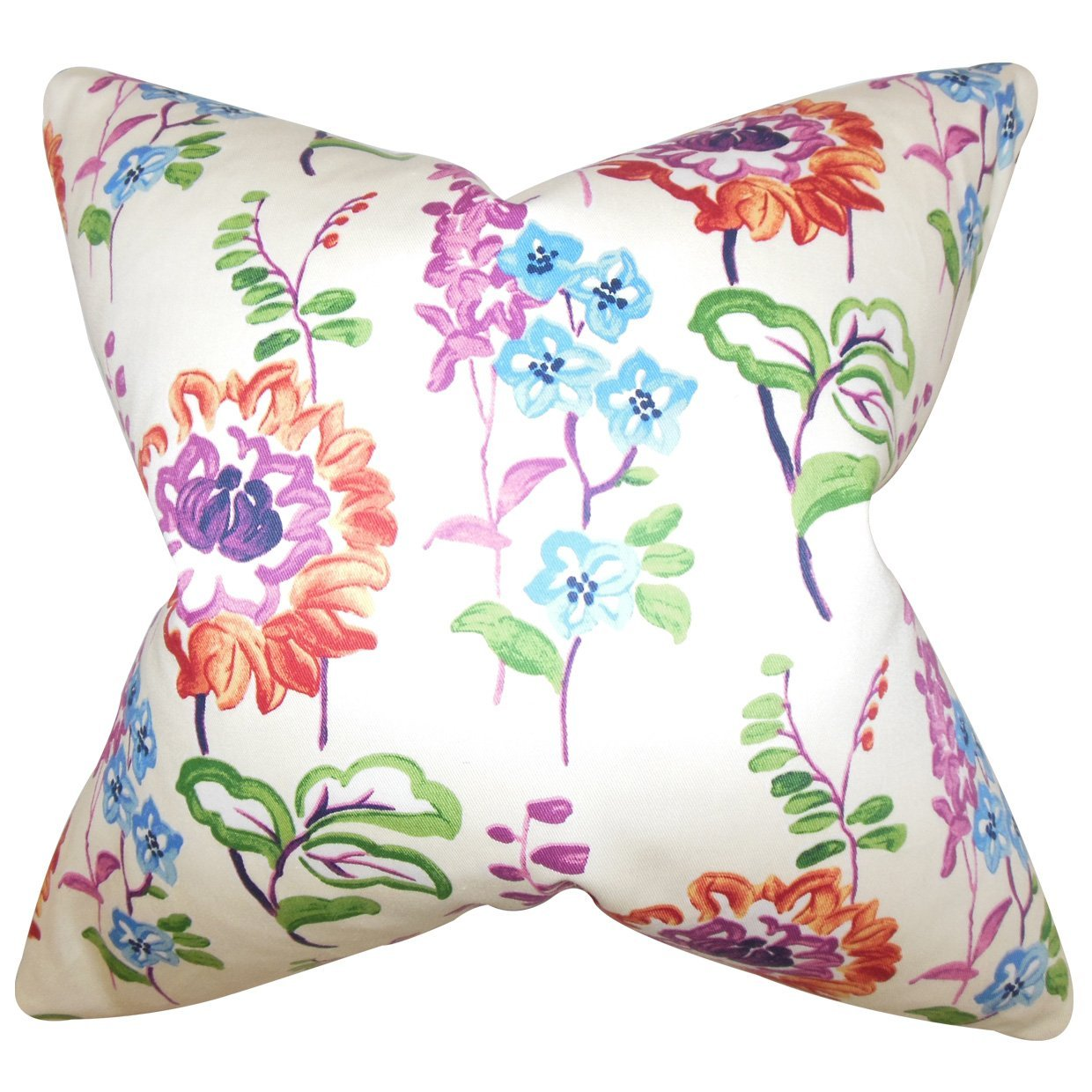 The Pillow Collection Haley Floral Bedding Sham Multi Standard//20 x 26