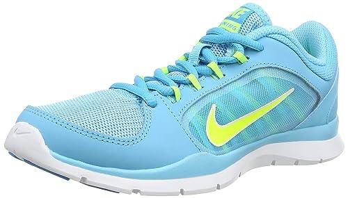 best service 24971 8777f Nike Flex Trainer 4, Zapatillas de Tenis para Mujer, Azul  (Clearwater Volt Blue Lagoon White), 37.5 EU  Amazon.es  Zapatos y  complementos