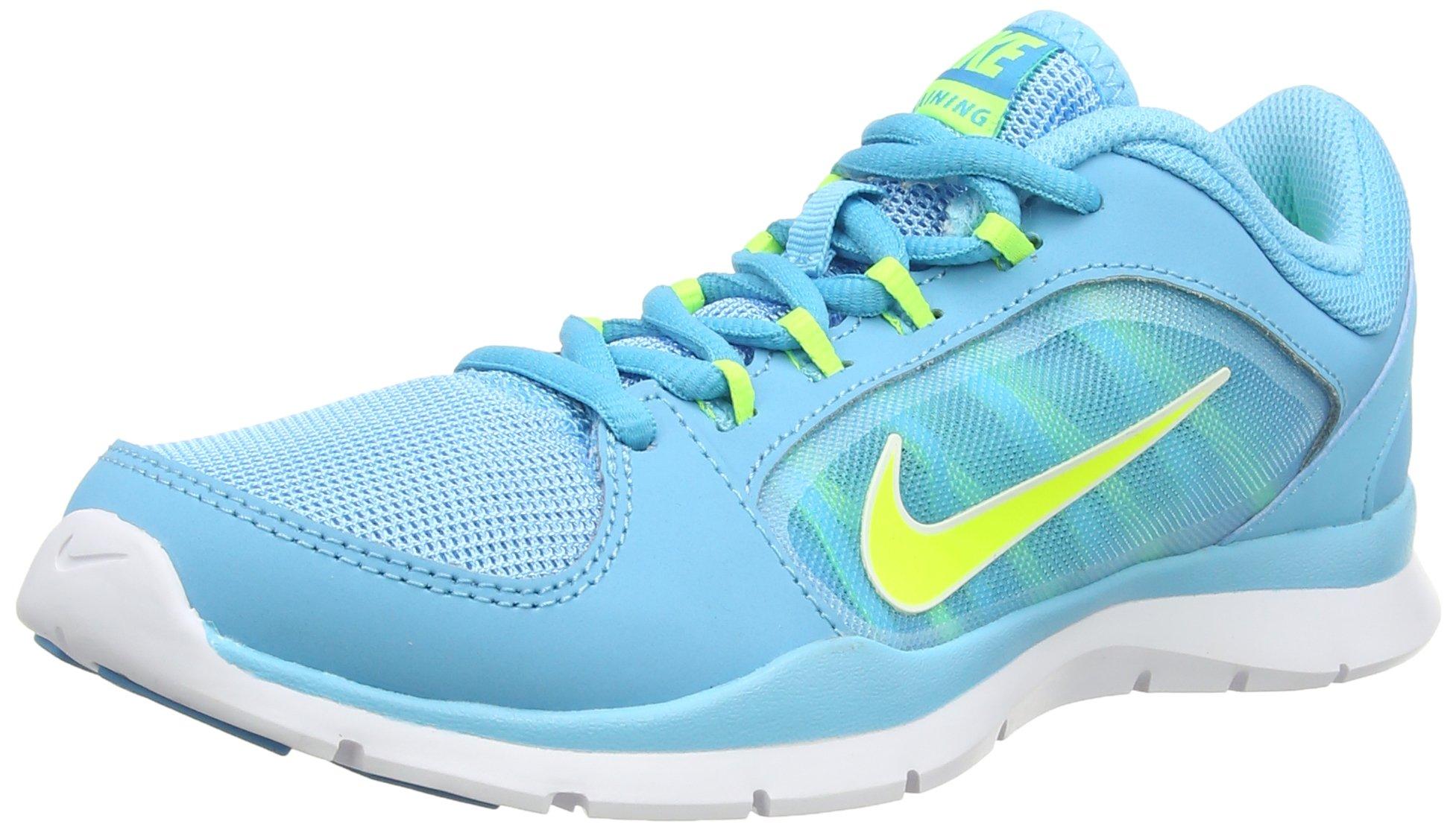 NIKE Women's Flex Trainer 4 Clearwater/Volt/Bl Lgn/White Training Shoe 6.5 Women US