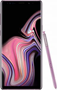 Samsung Galaxy Note 9 (SM-N960F/DS) 6GB / 128GB (Lavender Purple) 6.4-inches LTE Dual SIM (GSM ONLY, NO CDMA) Factory Unlocked - International Stock No Warranty