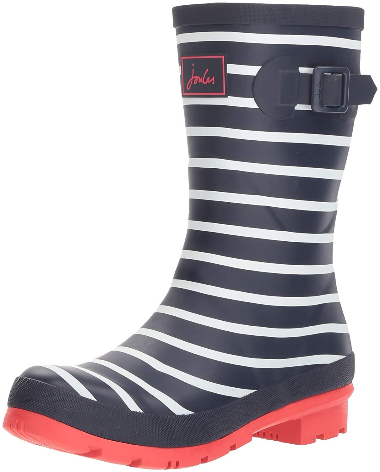 French Navy Stripe Joules Women's Molly Welly Rain