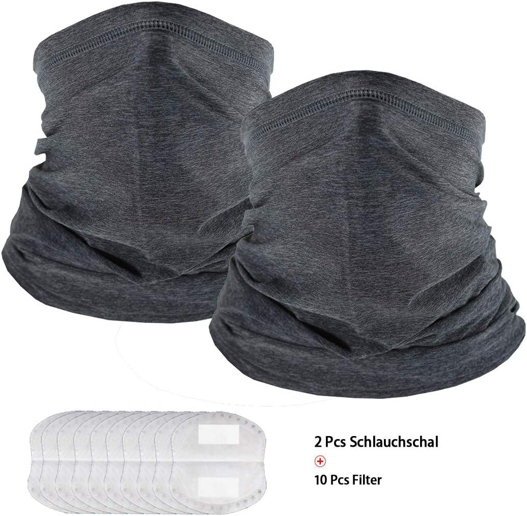 UPF 50+ ad asciugatura rapida Scaldacollo multifunzione da uomo e da donna 2 pezzi traspirante Winkeou protezione solare fresca e altamente elastica
