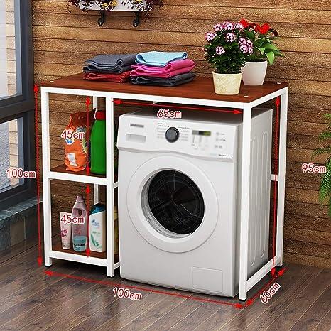 Estante de la lavadora Balcón tambor lavadora estante tipo piso ...