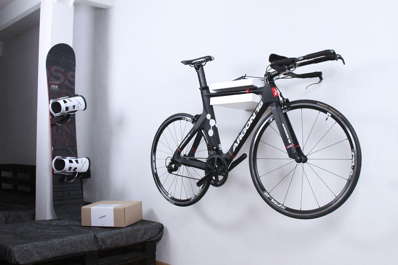 Soporte de bicicleta Amsterdam, diversos colores (blanco): Amazon ...