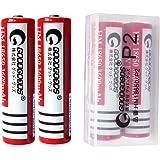 二本セット GOODGOODS 18650リチウムイオン電池 3600mAh 3.7V 充電池 保護回路付き 【CE&PSE認証済み】 【 電池ケース付き 】 P2