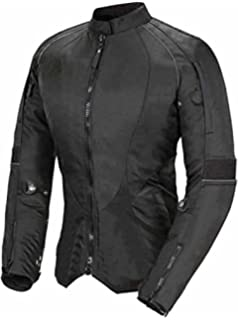 Impact Leder Motorrad Jacke Frauen Damen Schutz Mantel M