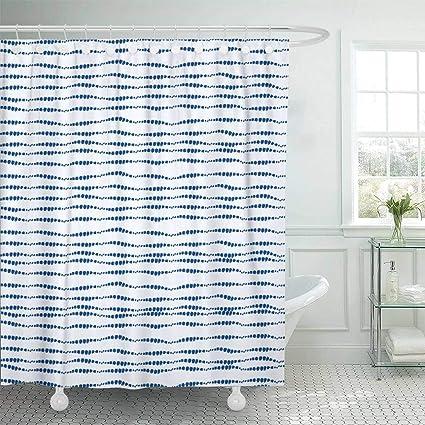 Emvency Fabric Shower Curtain Hooks Boho Tie Dye Hippie Ikat Watercolor Effect Shibori Batik Technique Trendy