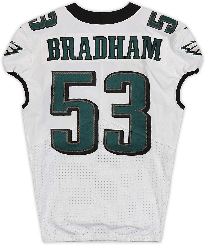 Nigel Bradham Philadelphia Eagles Game-Used #53 White Jersey from ...