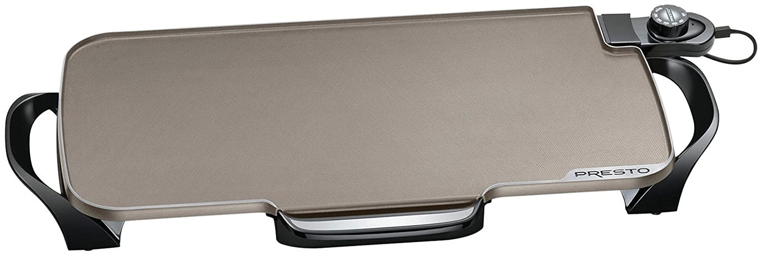Presto 07062 Ceramic 22-inch Electric Griddle with removable handles Black