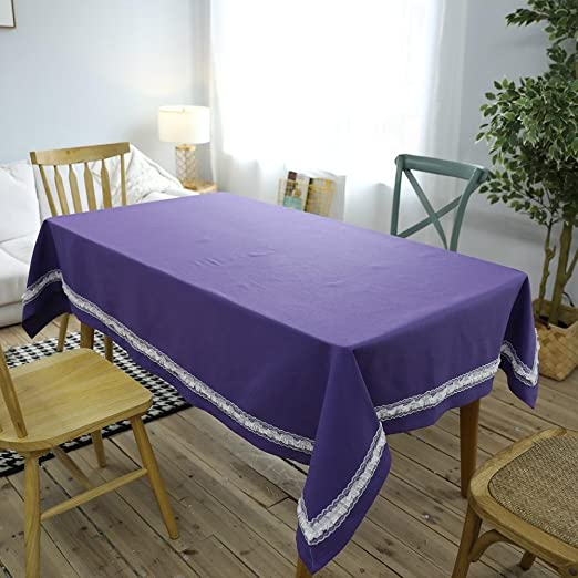 Nórdico clásico encaje mantel moderno simple púrpura manteles casa ...
