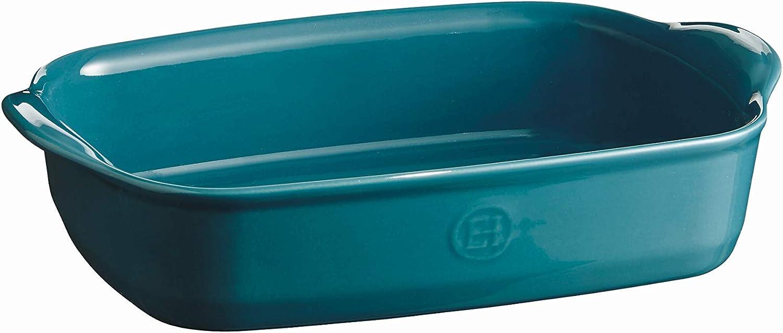Emile Henry EH609650 Small Oven, Mediterranean Blue rectangular baking dish