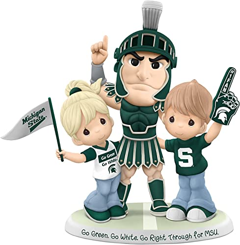 The Hamilton Collection Michigan State Spartans Precious Moments Porcelain Figurine by