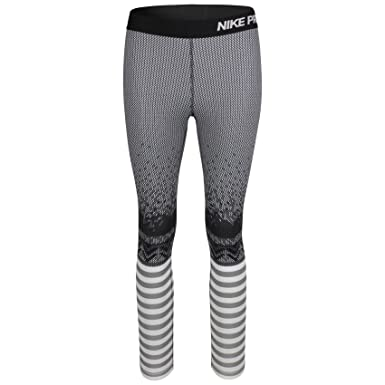 4d4a865773638 Nike Pro Hyperwarm Engineered Print Women's Training Tights,Black Grey,XL