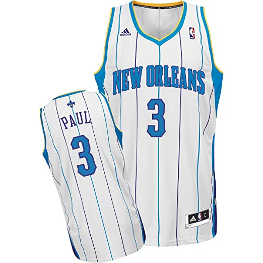 bec445d56d1 Amazon.com   NBA Men s New Orleans Hornets Chris Paul Revolution 30 Home  Swingman Jersey H Size (White