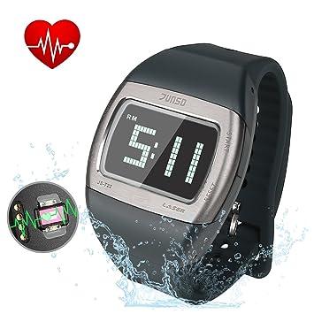 Cronómetro, bizoerade Reloj Deportivo reloj de pulsera digital LED Alarma Calendario Pulso Relojes para hombre