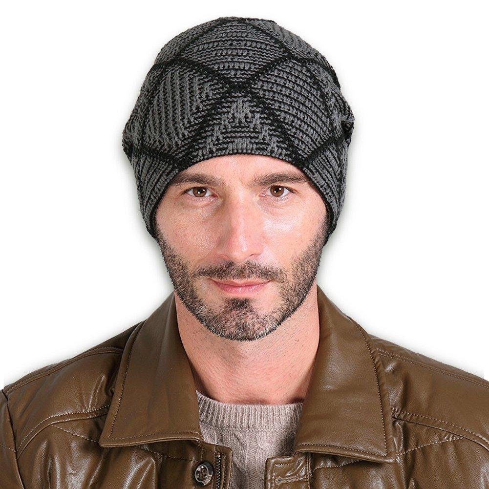 Vbiger Beanie Strickmütze Unisex Winter Wollmütze mit Flecht Muster