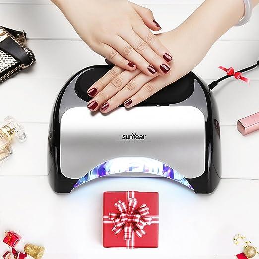 Amazon.com: Secador de uñas de 48 W actualizado, lámpara LED ...