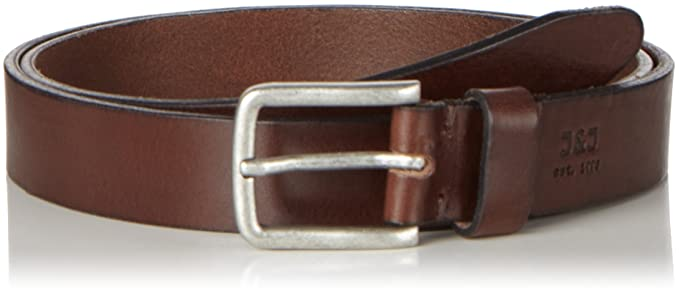 JACK   JONES Herren Gürtel JJILEE Leather Belt NOOS, Braun (Black Coffee), 00208a9963