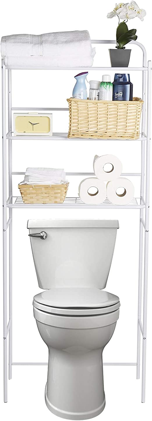 Mind Reader 3 Tier Rack Toilet Unit Bathroom Space Saver Accessories Stand New