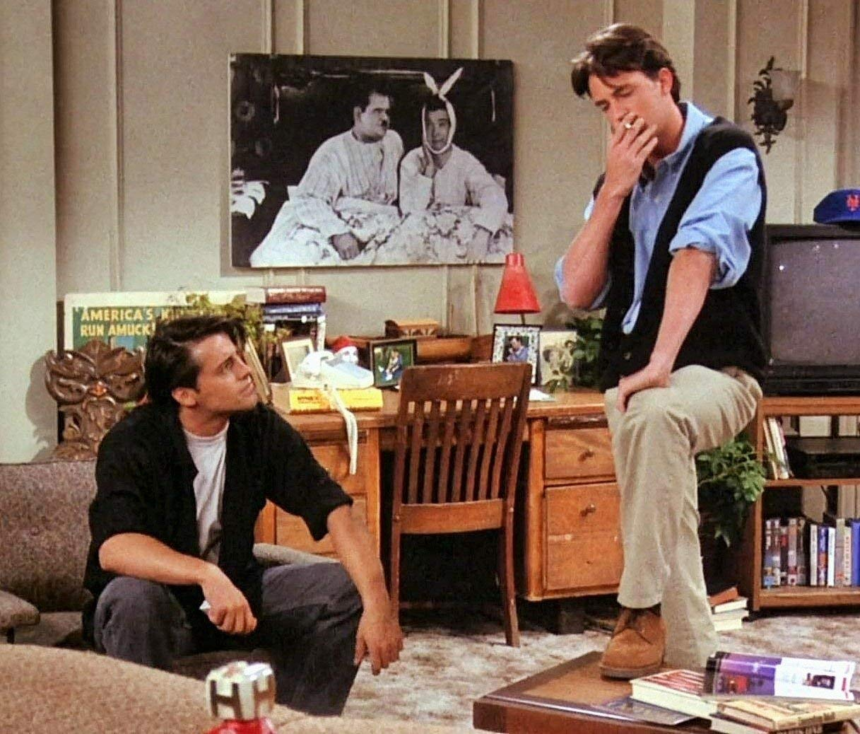 mCasting Friends Poster Friends Show Gifts and Decor Laurel /& Hardy Friends Merchandise TV Show Poster- Joey and Chandler Posters