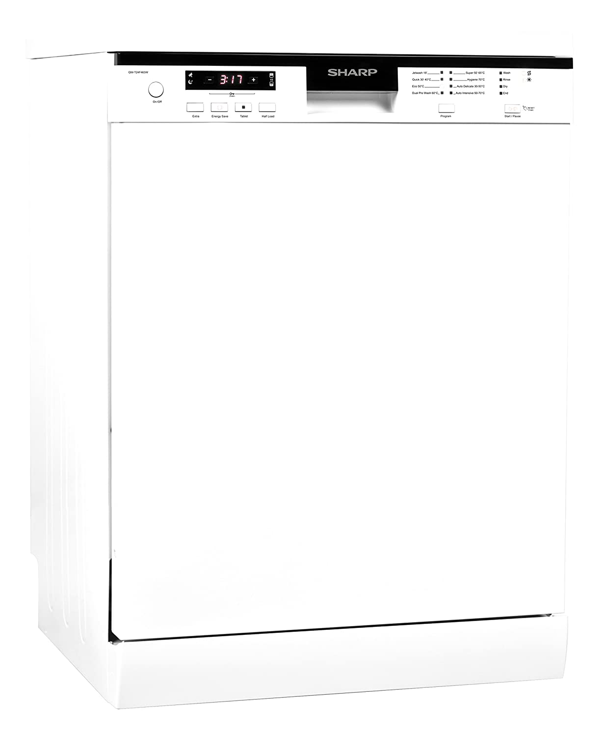 Sharp Home Appliances QW-T24F463W Independiente 12cubiertos A+++ ...