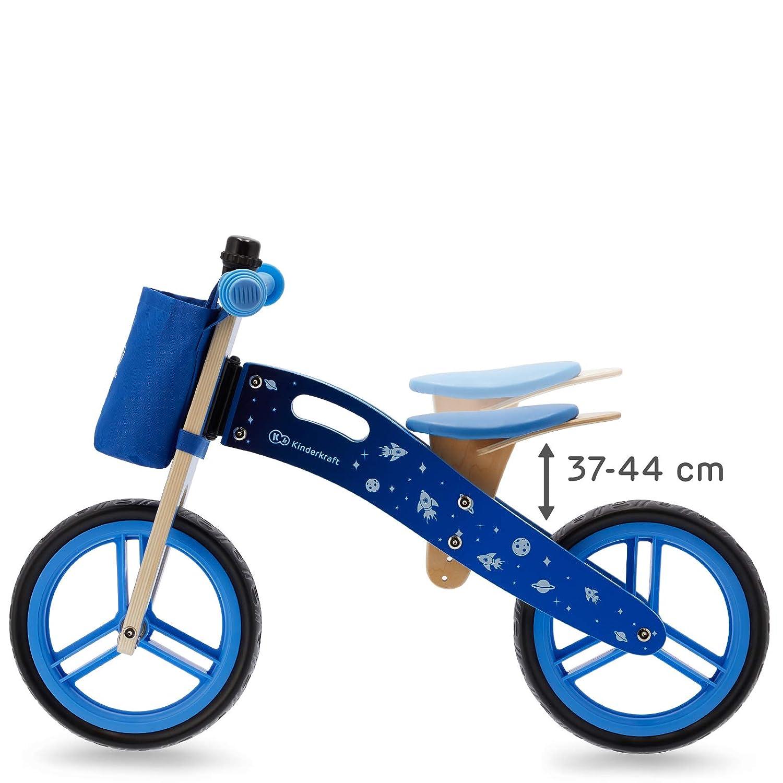 Ajustable Ligera Negro 3 A/ños y m/ás Kinderkraft Bicicleta sin Pedales RUNNER