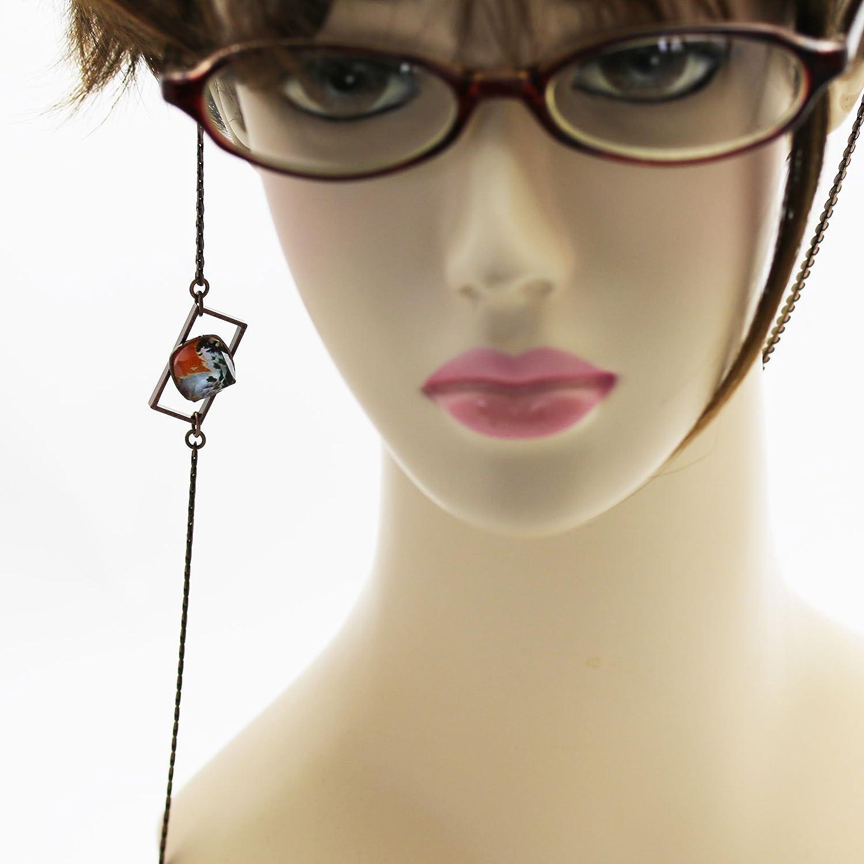 Tamarusan Eyeglasses Chain MenS Orange Pansy Eyeglasses Strap