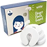 Wittle Finger Pinch Guard - 4pk. Baby Proofing Doors Made Easy with Soft Yet Durable Foam Door Stopper. Prevents Finger…