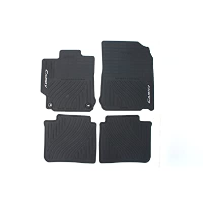 Genuine Toyota Accessories PT908-03120-20 Front and Rear All-Weather Floor Mat - (Black), Set of 4: Automotive