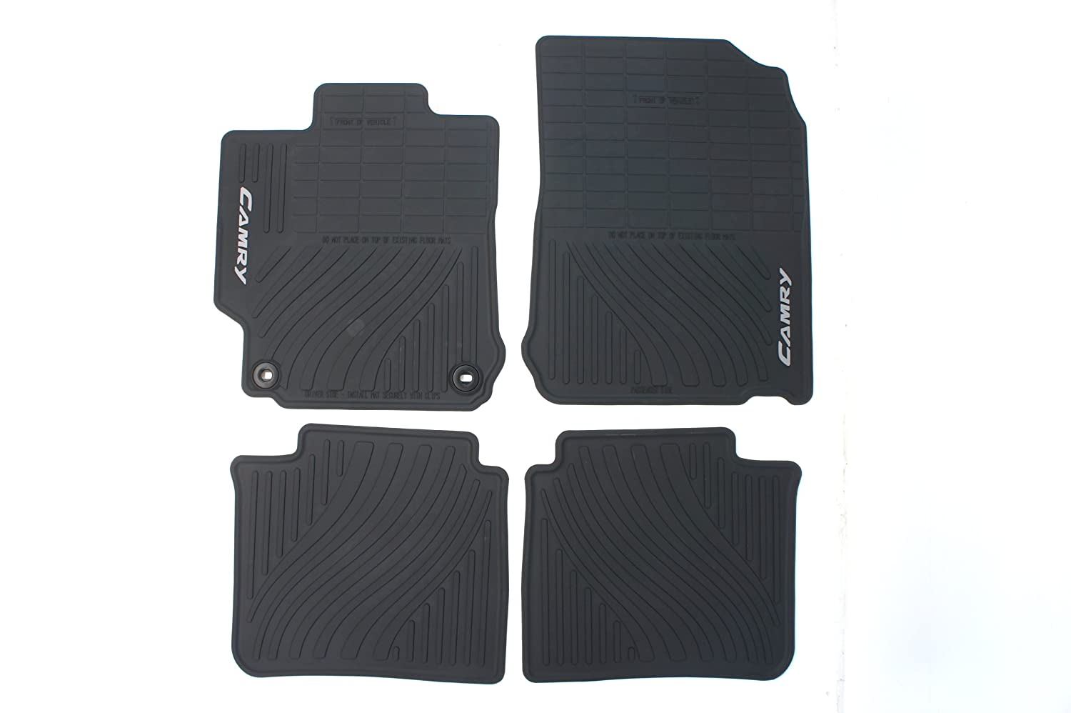 Rubber floor mats toyota camry - Amazon Com Genuine Toyota Accessories Pt908 03120 20 Front And Rear All Weather Floor Mat Black Set Of 4 Automotive