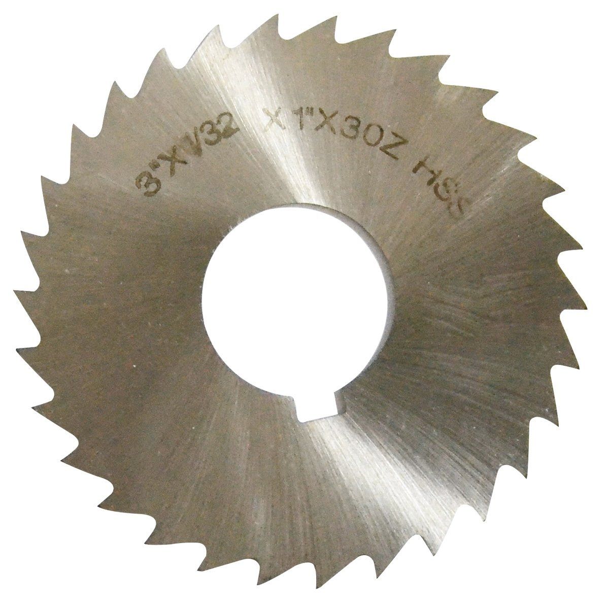 "HHIP 5071-4202 3 x 1/32 x 1"" High Speed Steel Plain Slitting Saw"