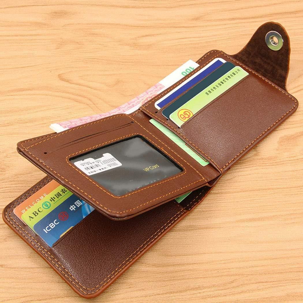 Lunir Men Casual Fashion Alligator Pattern Two-Folded Magnetic Buckle Wallet Wallets