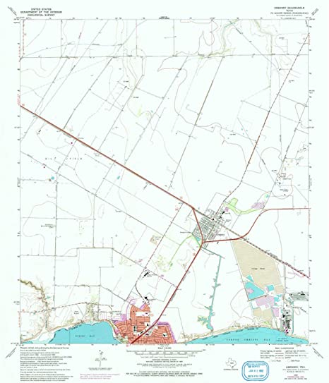YellowMaps Gregory TX topo map, 1:24000 Scale, 7.5 X 7.5 Minute,