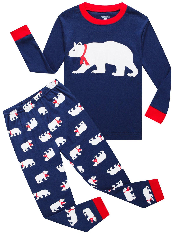 Family Feeling Christmas Bear Little Boys Girls Child Pajamas Sets 100% Cotton Toddler PJS CC-FD-Bear