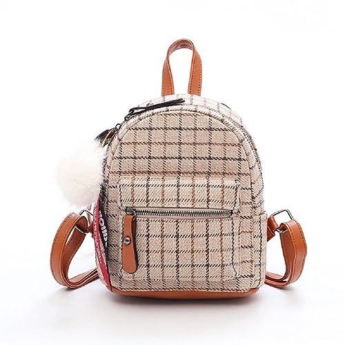 VHVCX Patrones Mujer Mini Bolsa Plaind mujeres del diseño de bolsos de escuela de sexo femenino Mochilas rayas Casual Bolsas para Adolescente Mochila, ...