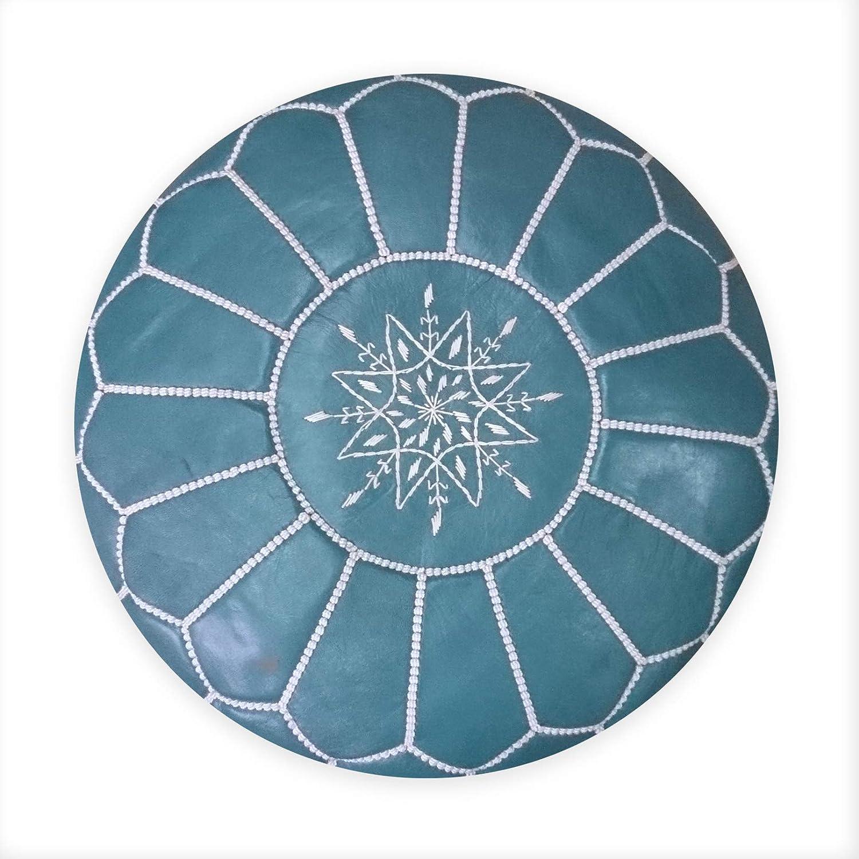 L Orient Marrakech Accessoires - Piel Pouf Cian 50 cm ...