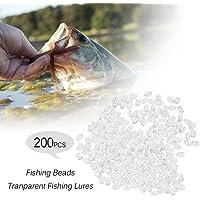 Lixada 200pcs Pesca Perlas Transparente Doble Agujero Cruz