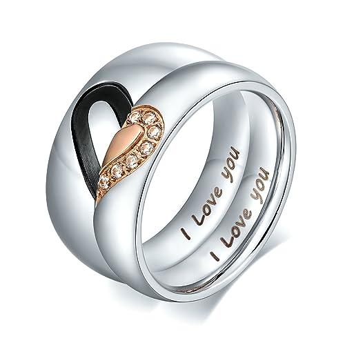 """AieniD anillos de boda para su y su juego de a juego """"Corazón Siempre&quot"""