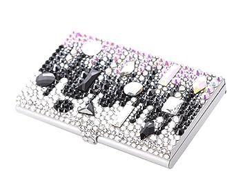 Playbling exclusive designer crystal business card holder case playbling exclusive designer crystal business card holder case decorated with swarovski elements symphony black colourmoves