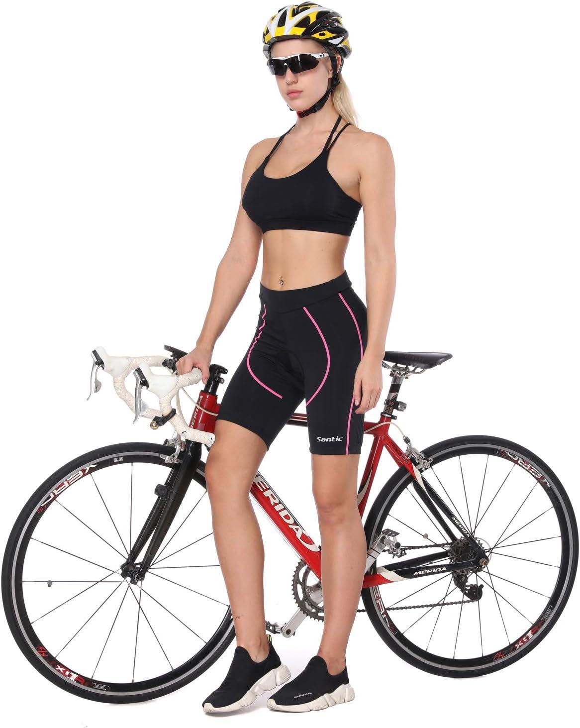 Santic Cuissard Cycliste Femme Rembourr/é Cuissard Cyclisme Cuissard Velo Short Cycliste