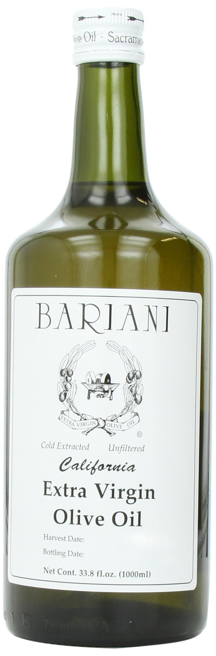 Bariani Extra Virgin Olive Oil, 33.8-Ounce Bottles (Pack of 2)