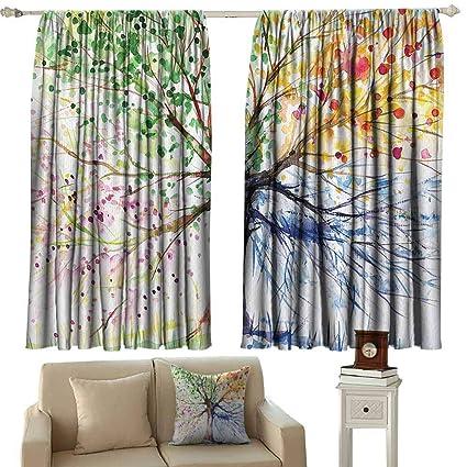 Amazing Amazon Com Tankcsard Navy Blue Curtains Four Seasons Berry Theyellowbook Wood Chair Design Ideas Theyellowbookinfo
