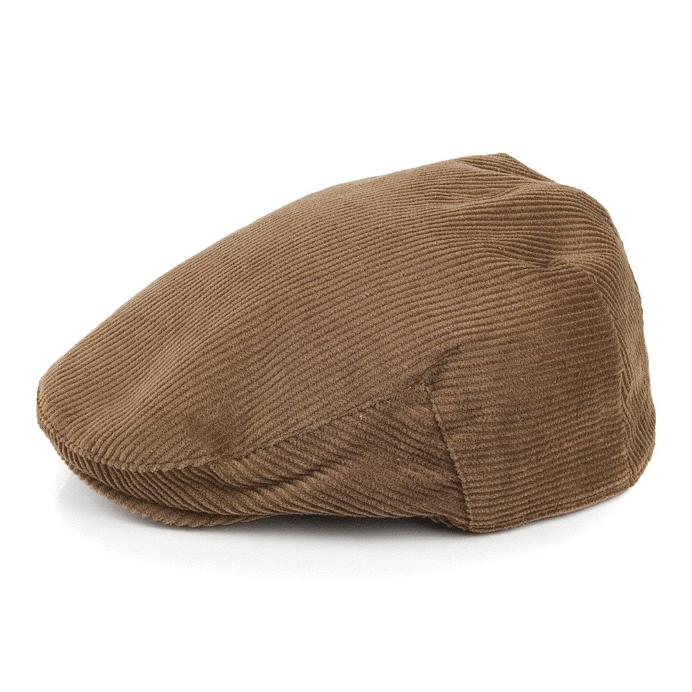 57a16ec39a3 Failsworth Hats Corduroy Flat Cap - Light Brown 57  Amazon.co.uk  Clothing