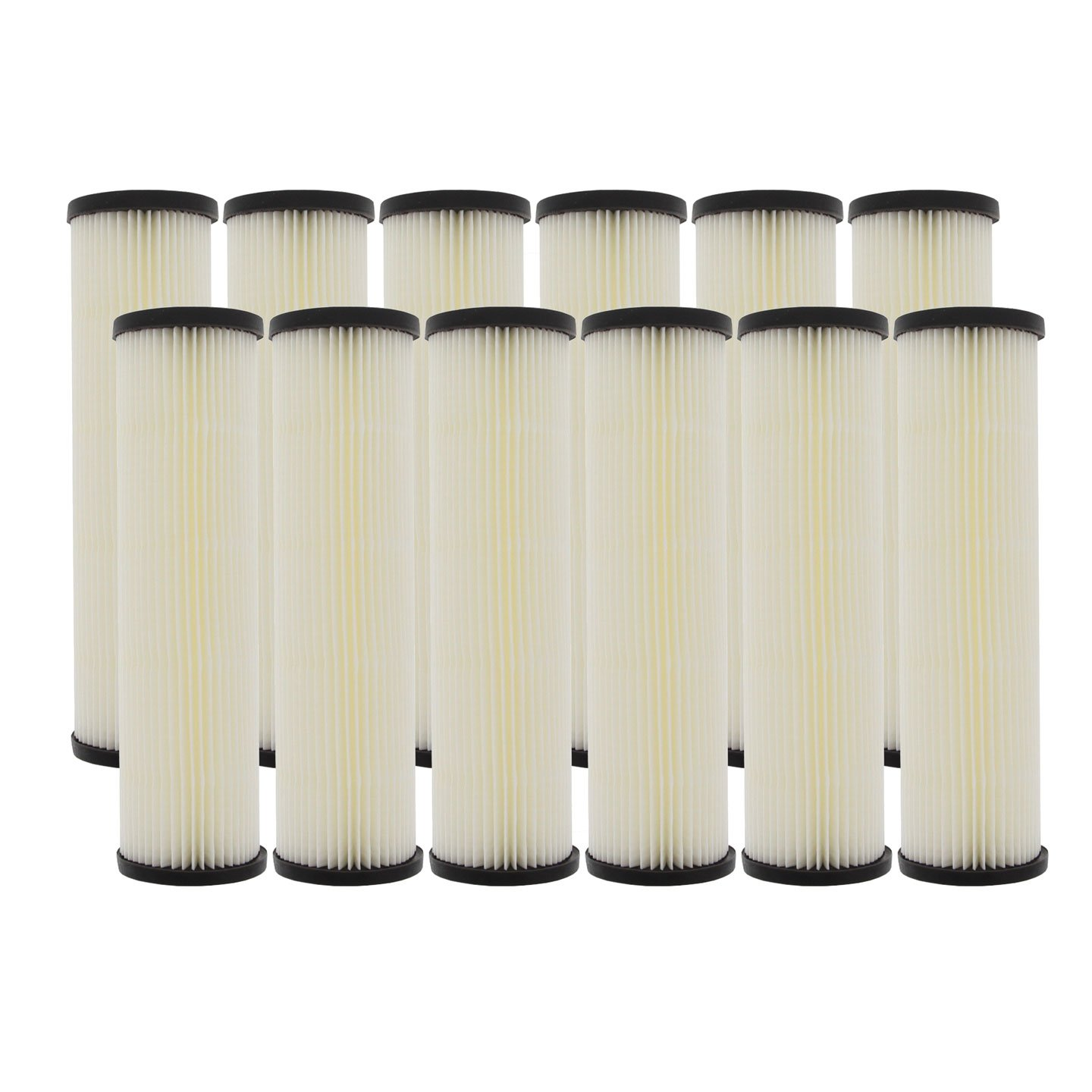 Pentek S1 20 Micron Standard 10 x 2.5 Inch Pleated Sediment Water Filter 12 Pack by Pentek