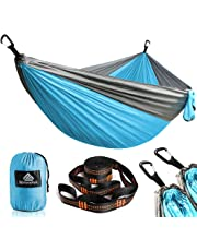 NATUREFUN Ultra-Light Travel Camping Hammock | 300kg Load Capacity,Breathable,Quick-drying Portable Hammock | 2 x Premium Carabiners,2 x Nylon Slings Included | Outdoor Indoor Garden