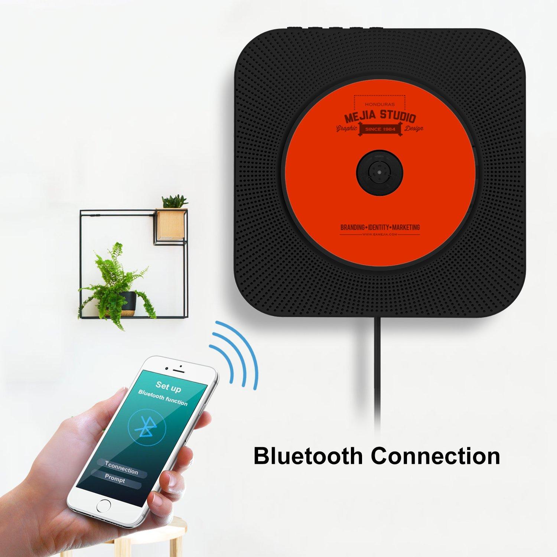 Portable CD Player Searick Bluetooth Wall Mountable CD Amazon Electronics