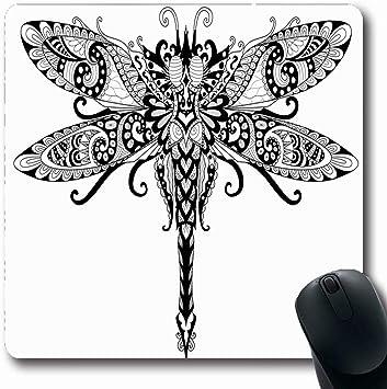 Alfombrilla de ratón Oblonada con henna Garabatos gráficos ...